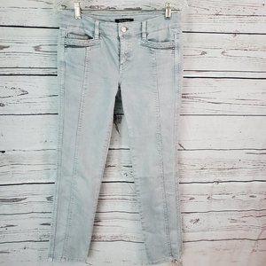 White House Black Market Slim Ankle Jeans Gray 2